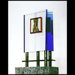 Joan of Arc - glass sculpture by John Healey